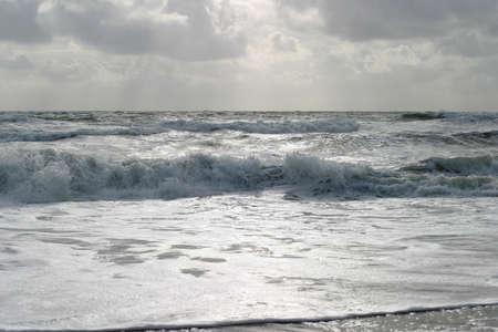 Atlantic Seascape - The French Silver Coast, �La Cote d�Argent�, over 200 km long stretch shoreline of endless waves.