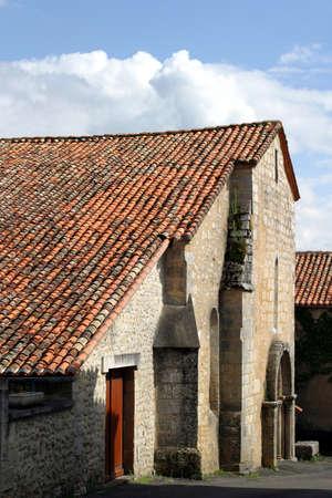 Charente Style Church - Romanesque architecture � Saint-Germain-de-Montbron village, France.