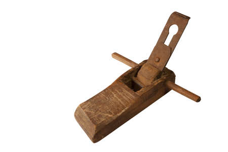 Carpenter ancient device used for decorating the face with a smooth surface for use. photo