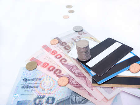 Thai currency,Cash Card,Important factor for survival. photo