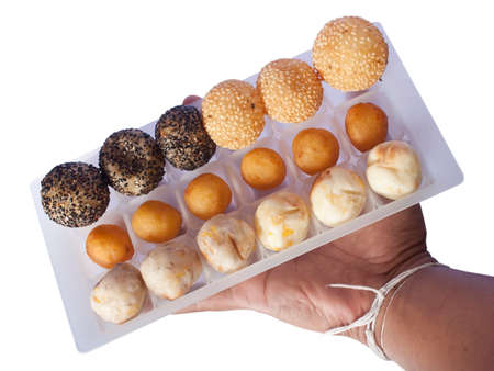 Hand-picked Thai desserts on white background. Stock Photo - 10046452