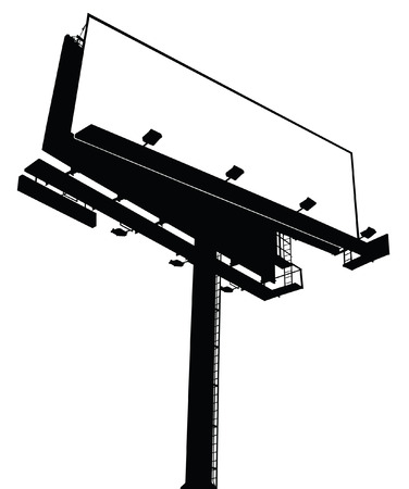 outdoor blank billboard: Billboard Sign - Blank, Vectorized