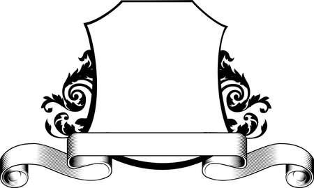 scroll border: Ribbon Illustration
