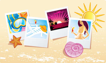 album photo: Vector illustration of Summer background