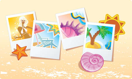 summer holiday: Vector illustration of Summer background