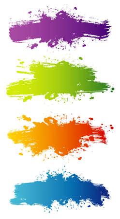 splash color: Illustrazione vettoriale di alzatina
