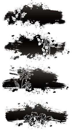 ink splat: Vector illustration of Splash back Illustration