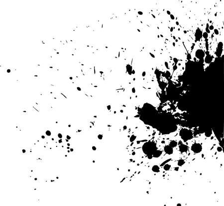 inkblot: Vector illustration of Splash back Illustration