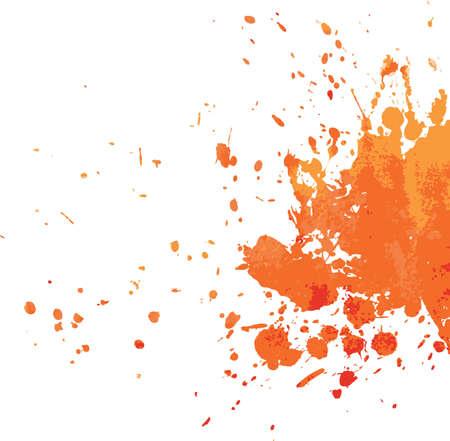wet paint: Vector illustration of Splash back Illustration