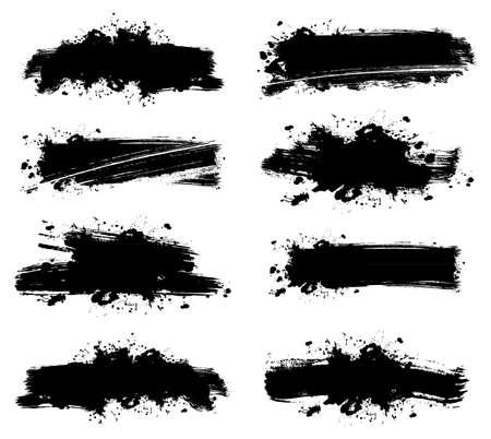 grafitis: Ilustraci�n vectorial de las banderas del chapoteo establecer Vectores