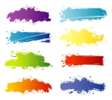 dripping paint: Vector illustration of Splash banners set Illustration