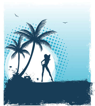 Vector illustration of Tropic back Vector