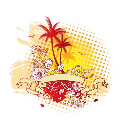 Vector illustration of Tropic back Vector