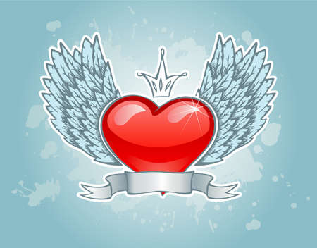 Vector illustration of Vintage heart Illustration