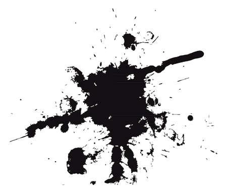 ink splat: Vector illustration of Splash  Illustration