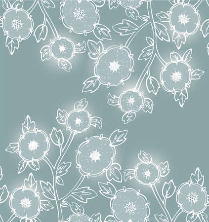 Vector illustration of Floral seamless pattern Stock Vector - 14864086