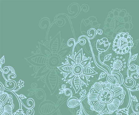 Vector illustration of floral back Vector