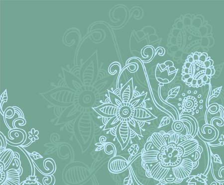 Vector illustration of floral back Vector