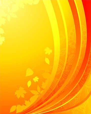 Vector illustration of Autumn leafs back Stock Vector - 14863889