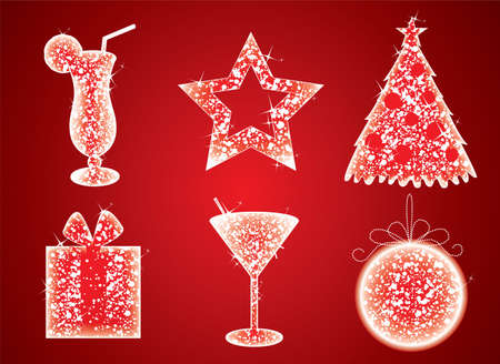 Vector illustration of Christmas set Vector