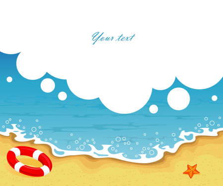Vector illustration of Summer tropical banner Vector