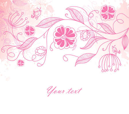 Vector illustration of floral back Stock Vector - 14865145