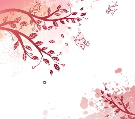 dating and romance: Splash background with branch Illustration
