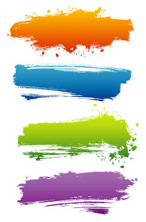 splatter paint: Vector illustration of Splash banners set Illustration