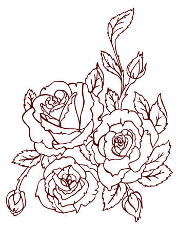 rococo style: Flower back Illustration