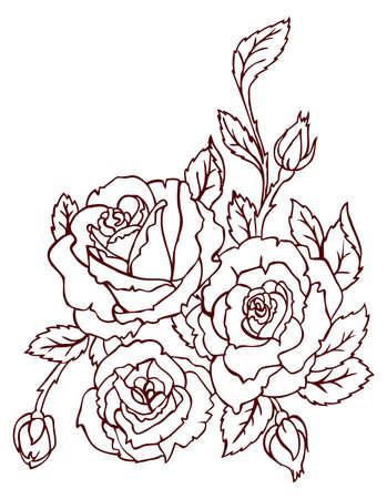 victorian fashion: Flower back Illustration