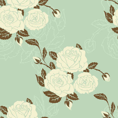 Vector illustration of Roses seamless pattern Vector
