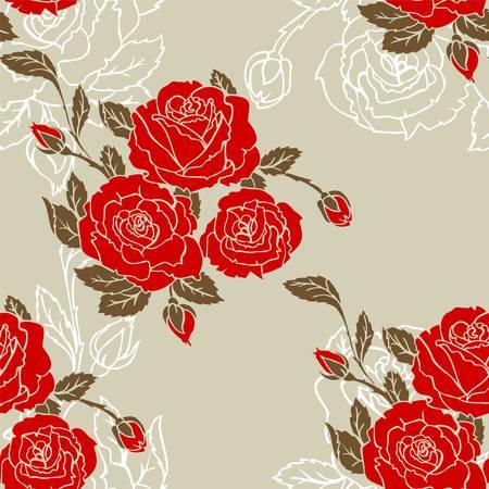 Vector illustration of Roses seamless pattern Stock Vector - 14865482