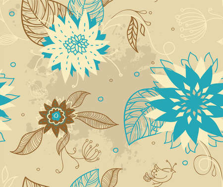 Vector illustration of Floral seamless pattern Stock Vector - 14865288