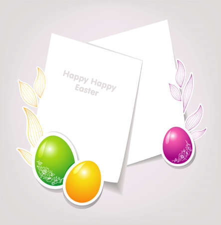 Vector illustration of Easter template Stock Vector - 14863995
