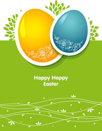 Vector illustration of Easter template Vector