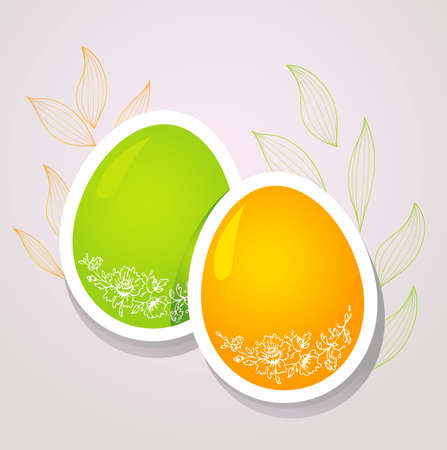 Vector illustration of Pic with eggs Vector