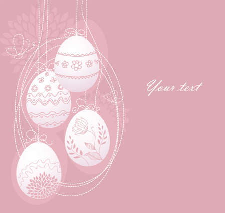 pasch: Vector illustration of Pic with eggs Illustration