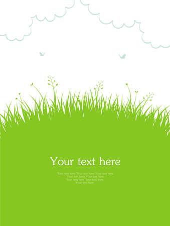 beautiful summer growth: Vector illustration of Summer grass