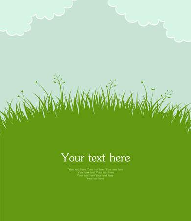 illustration herbe: Vector illustration de l'herbe d'�t�