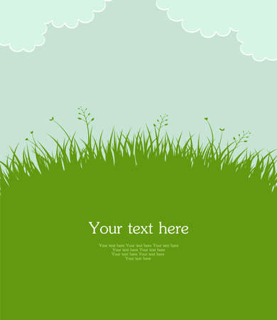 formal garden: Vector illustration of Summer grass
