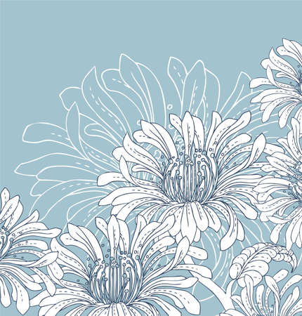 Flower back Vector