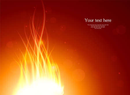 Vector illustration of Glowing fire background Vector