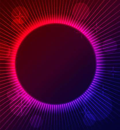 night club: Illustrazione vettoriale di colore di sfondo astratto incandescente