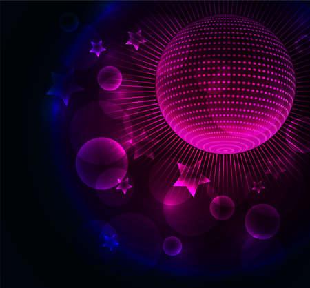 Ilustración vectorial de fondo Disco ball Ilustración de vector