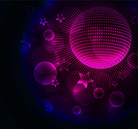 Vector illustration of Disco ball background Vector