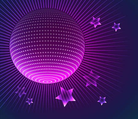 Vector illustration of Disco ball background