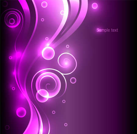 Vector illustration of Abstract color glowing background Vector