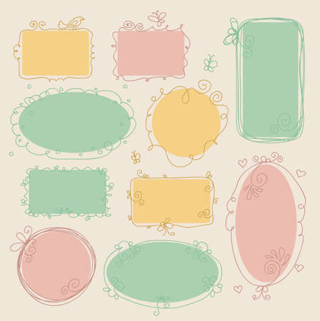 whimsical: Vector illustration of Vintage frames