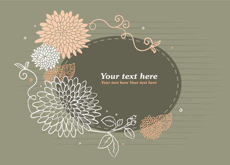 Vector illustration of vintage back Vector