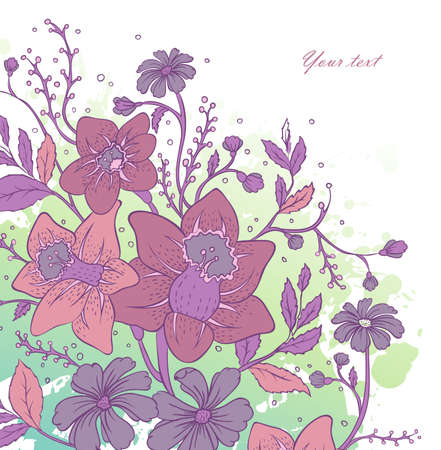 Vector illustration of Floral background Vector